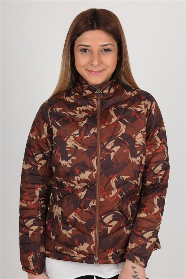 Barbour Bateleur Quilt OR51 Orange Camo