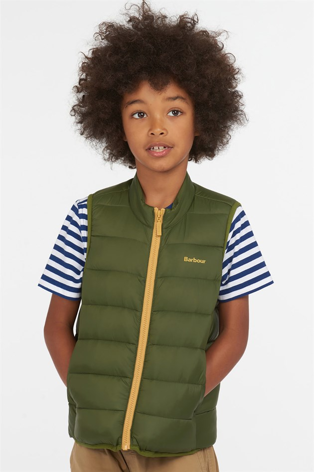 Barbour Boys Trawl Gilet GN77 Rifle GreeN