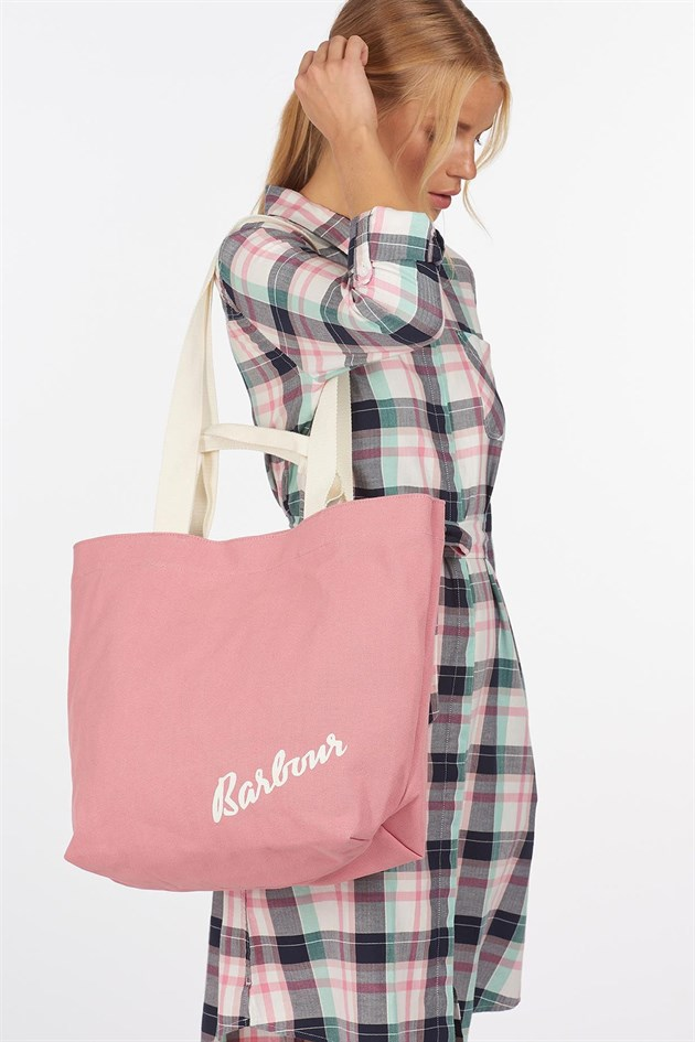 Barbour Double Handled Shopper Bag PI35 Sherbet