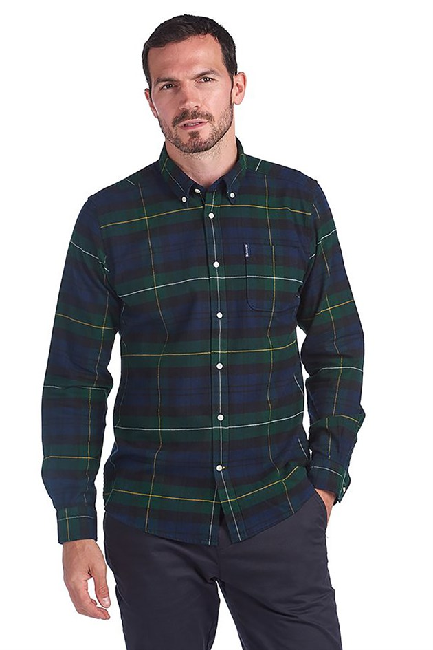 Barbour Highland Check 18 Tailored Gömlek GN51 Green