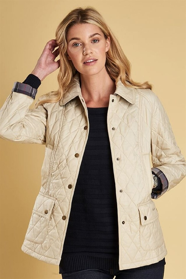 Barbour Summer Beadnell Quilted Jacket CR51 Pearl