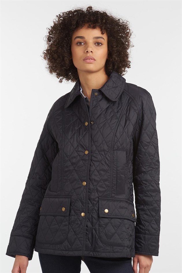 Barbour Summer Beadnell Quilted Jacket NY91 Navy